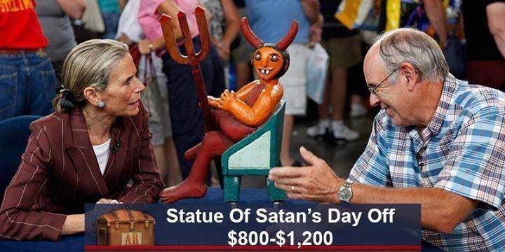 Community - Statue Of Satan's Day Off $800-$1,200 AR