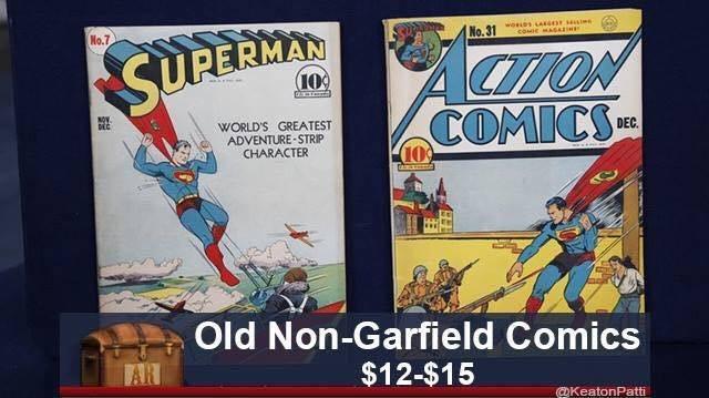 Comics - No.7 wosDs A cooe MAGN No.31 CTON COMICS SUPERMAN (109 DEC WORLD'S GREATEST ADVENTURE-STRIP CHARACTER DEC 10 Old Non-Garfield Comics AR $12-$15 @KeatonPatti