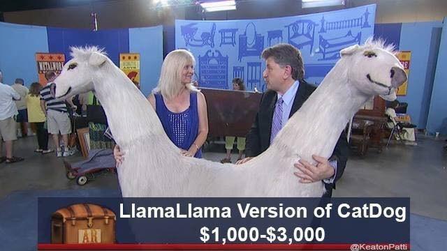 Llama - WETALWOR LlamaLlama Version of CatDog $1,000-$3,000 @KeatonPatti