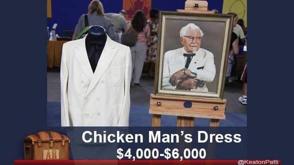 Pope - Chicken Man's Dress $4,000-$6,000 AR @KeatonPatti