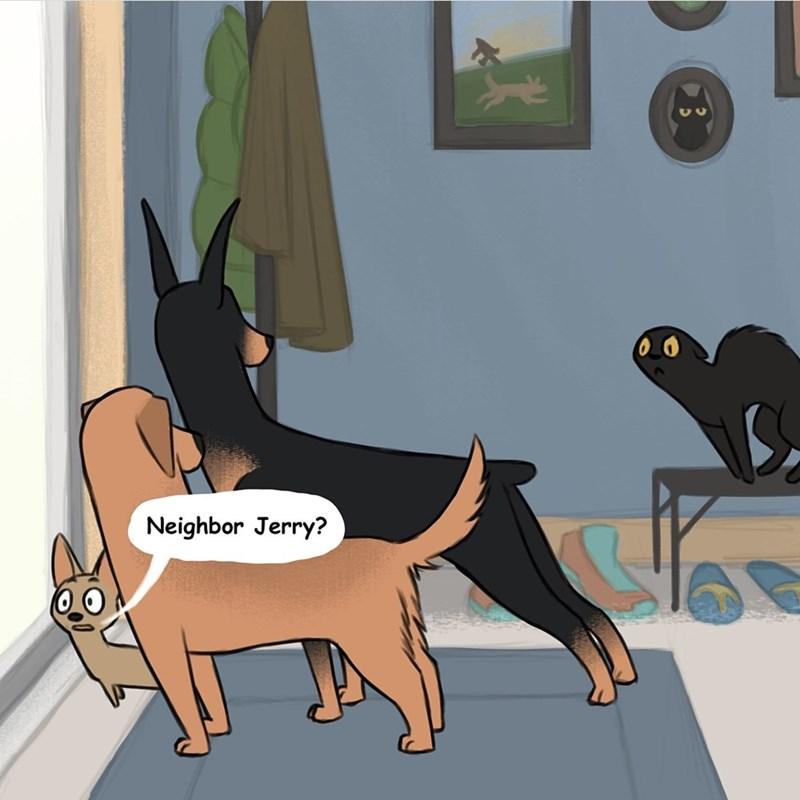 comic - Cartoon - Neighbor Jerry?