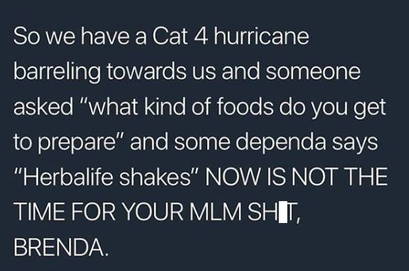 meme about people constantly using MLM in any situation