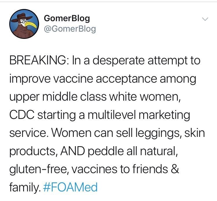 anti vaxxers meme about marketing vaccines to upper middle class white women