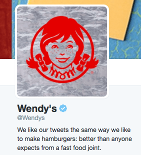 Text - NSTE Wendy's @Wendys We like our tweets the same way we like to make hamburgers: better than anyone expects from a fast food joint