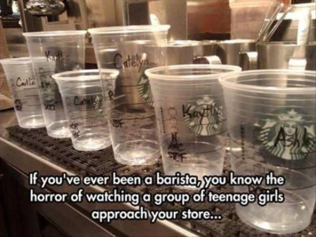 work meme about white girls at Starbucks