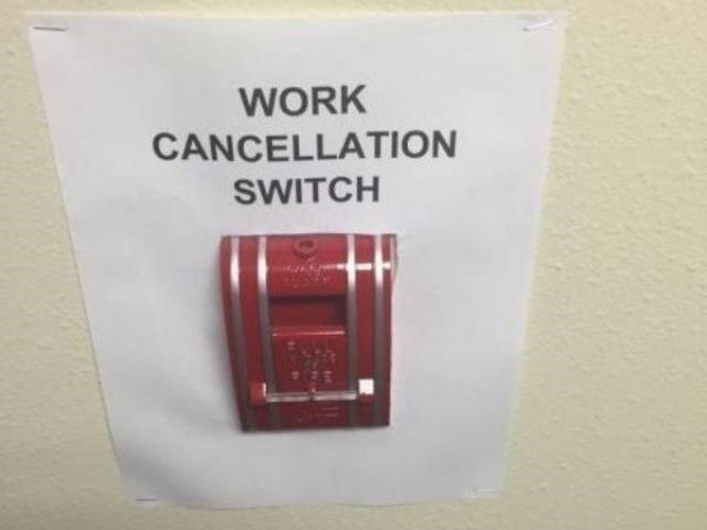 work meme with pic of a fire alarm