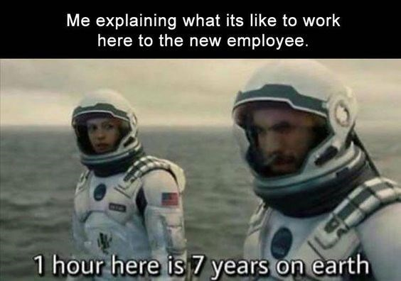 work meme about time moving slower at work