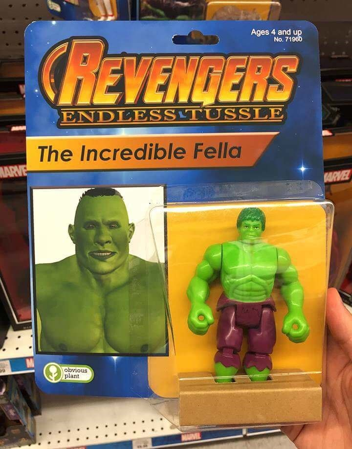 Toy - Ages 4 and up No. 71960 CREVENDERS ENDLESSTUSSLE The Incredible Fella MARVE ARVEL obνious plant MARVEL