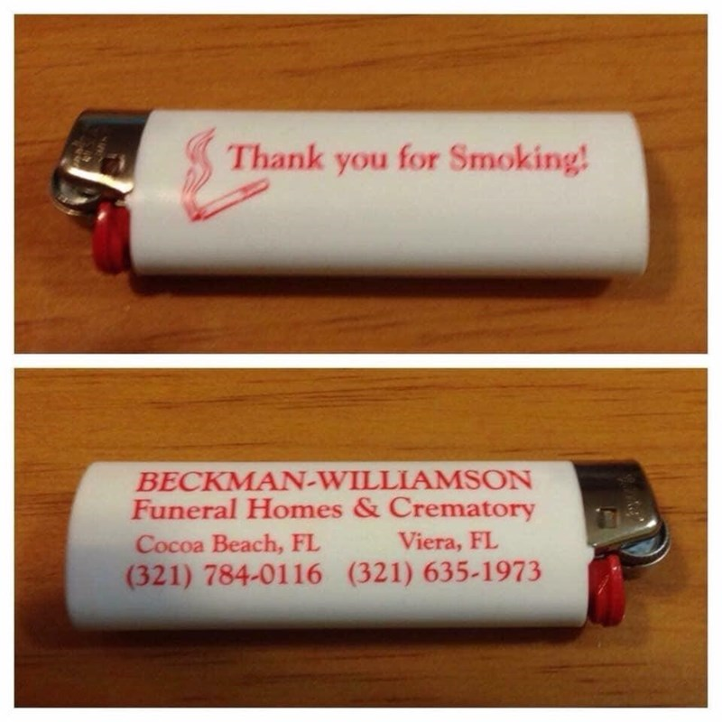 Funny meme, dark humor, smoking, lighter, funeral home.