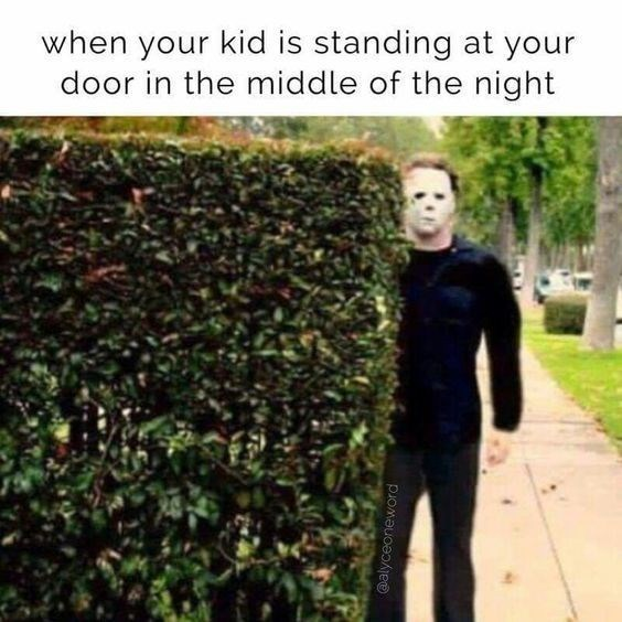 Tree - when your kid is standing at your door in the middle of the night @alyceoneword