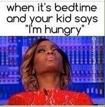 "Text - when it's bedtime and your kid says ""T'm hungry @imwoyyupifeeiblesoed"