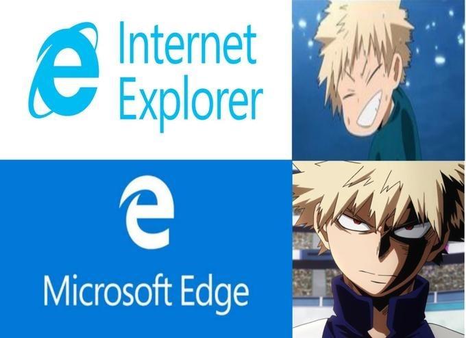 Cartoon - Internet Explorer е Microsoft Edge