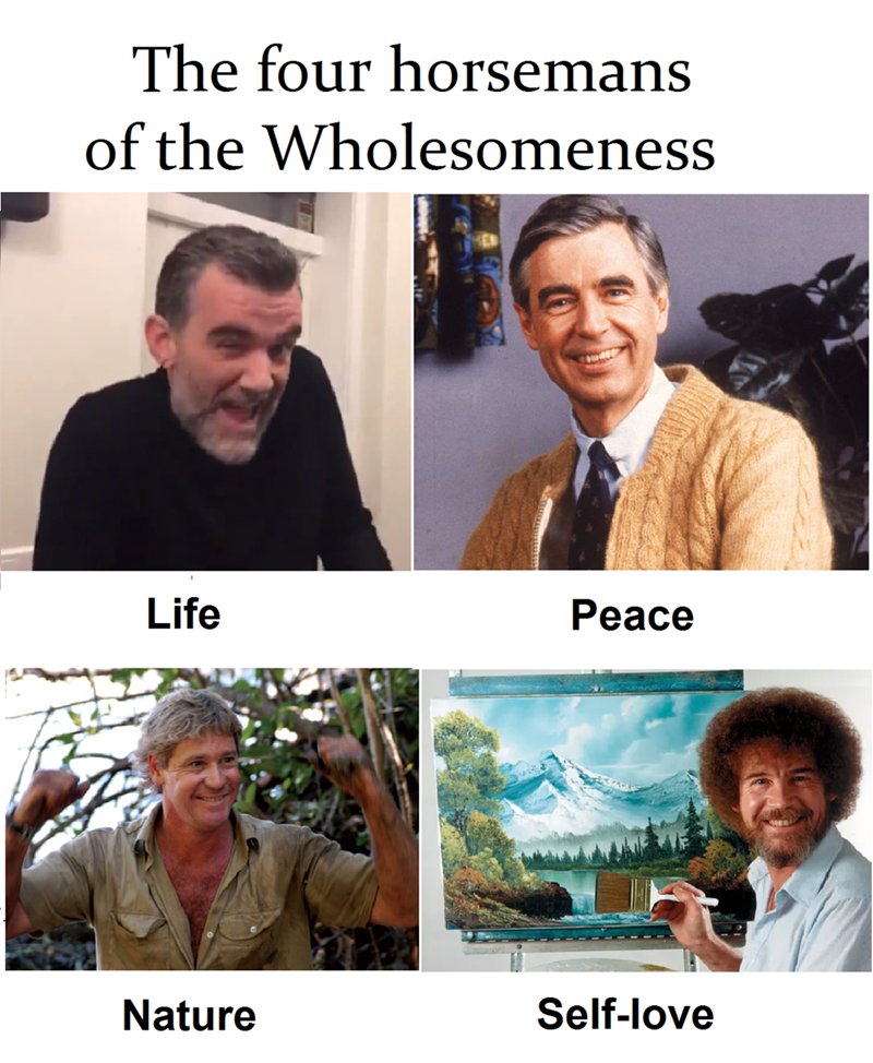 'The four horsemen of the wholesomeness' which features Stefan Karl Stefansson, Steve Irwin, and Bobb Ross