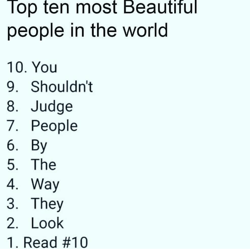 wholesome meme about not judging people based on their looks