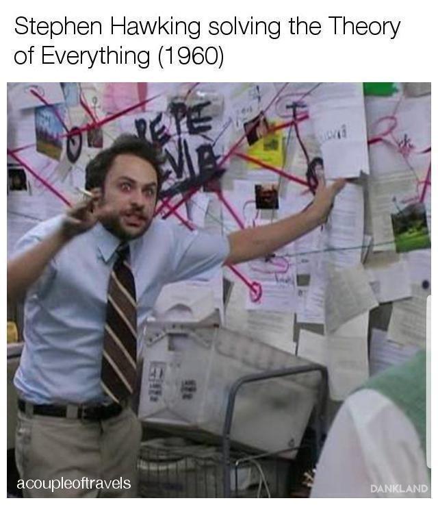 Adaptation - Stephen Hawking solving the Theory of Everything (1960) acoupleoftravels DANKLAND