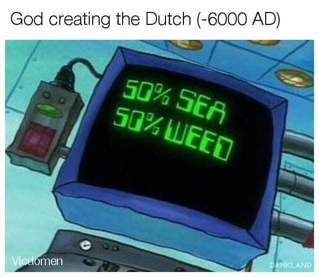 Product - God creating the Dutch (-6000 AD) S0% SEA S0% WEED DANKLAND Vicelomen