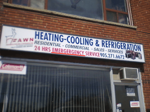 Font - HEATING-COOLING&REFRIGERATION RESIDENTIAL COMMERCIAL SALES SERVICES 24 HRS EMERGERGENCY SERVICE 905.271.6672 FEAWN Colemont