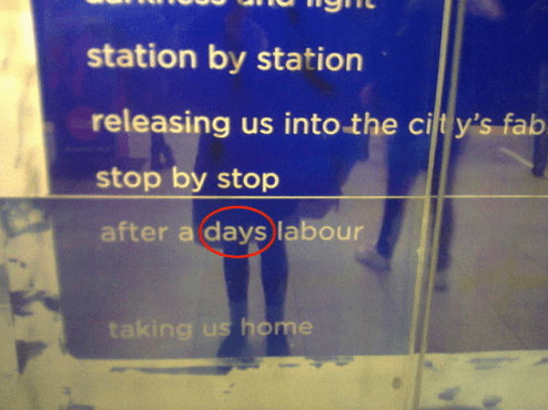 Text - station by station releasing us into the cit y's fab stop by stop after a days labour taking us home