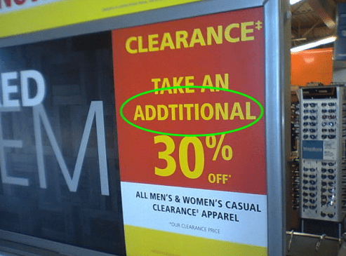 Advertising - CLEARANCE ED TAKE AN ADDTITIONAL 30% OFF ALL MEN'S&WOMEN'S CASUAL CLEARANCE APPAREL oUR CLEARANCE PRCE