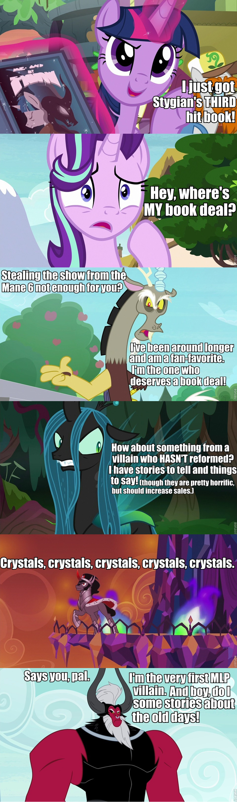 a matter of principals king sombra the crystal empire discord starlight glimmer twilight sparkle screencap the end in friend tirek the mean six sammyw28 twilight's kingdom chrysalis comic a rockhoof and a hard place changelings - 9219681792
