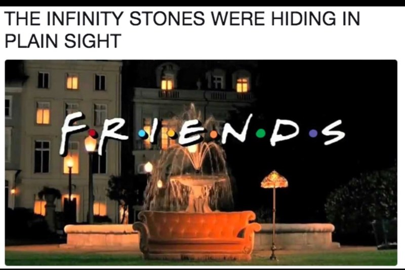 Text - THE INFINITY STONES WERE HIDING IN PLAIN SIGHT faR HEEN P.s