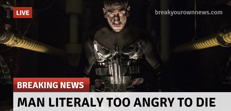 Photo caption - breakyourownnews.com LIVE BREAKING NEWS MAN LITERALY TOO ANGRY TO DIE