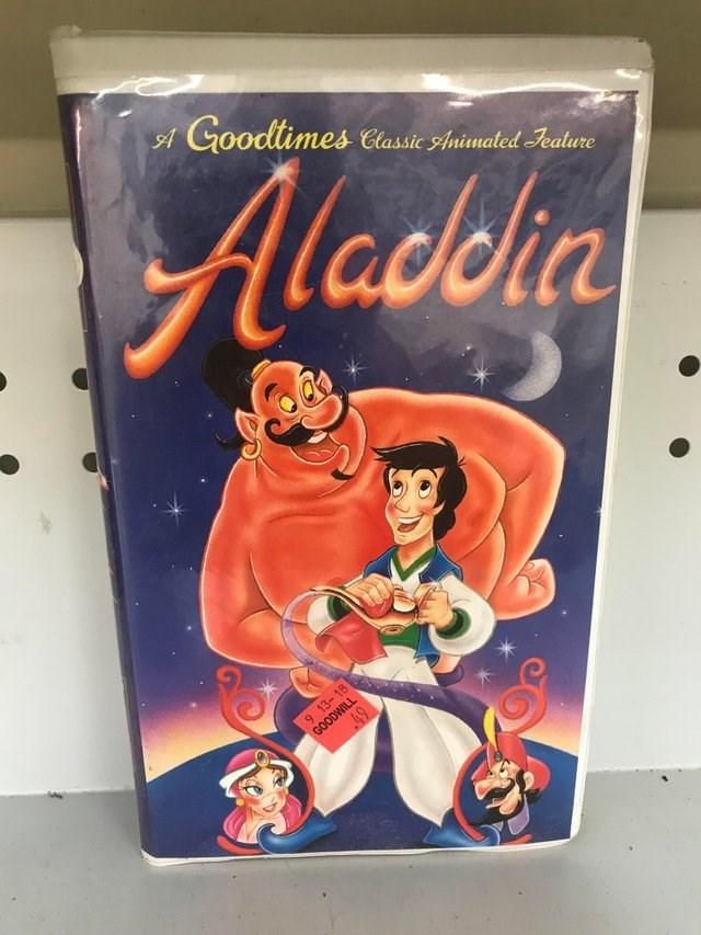 Animated cartoon - A Goodtimes Classic Animated eature Aladklia 9 13 GOODWILL 49