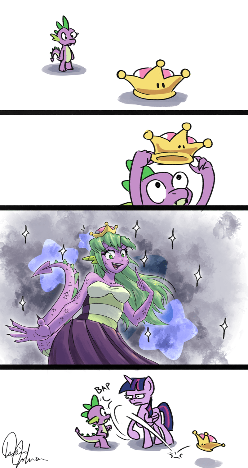 spike bowsette twilight sparkle Memes tadpole dude comic mario - 9220065280