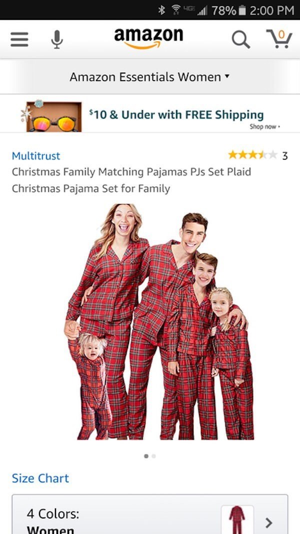 Photoshop fail of family pajama set that all their heads look distorted