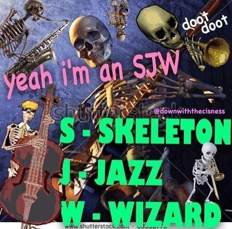 Music - doot doot yeah i'm an STW shunnosmeg S-SKELETON FAZZ W WIZARD @downwiththecisness www.shutterstock.co.3