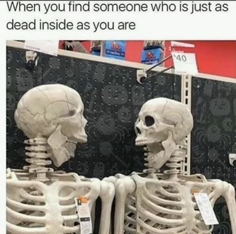 Head - When you find someone who is just as dead inside as you are 40