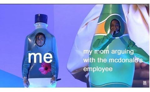 Product - my mom arguing with the mcdonald's employee me