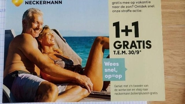 ad with couple sunbathing where on first glance it looks like the man has his hand between the woman's legs