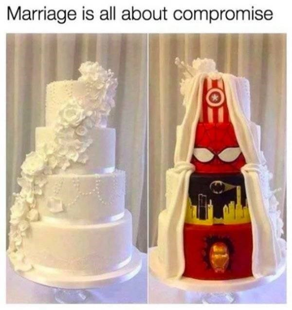 Cake decorating - Marriage is all about compromise
