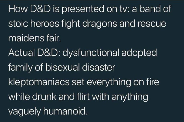 dungeons and dragons meme about what playing the game is really like