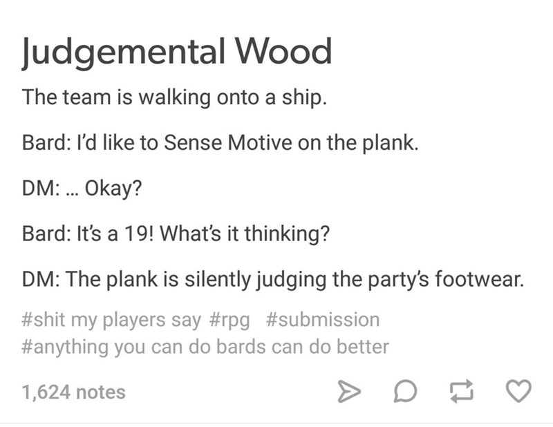 dungeons and dragons meme about doing irrelevant things in the game