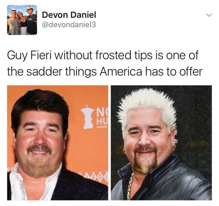 Funny meme about guy fieri.