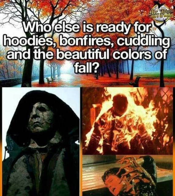 Comics - Who else is ready for hoodies, bonfires, cuddling and the beautiful colors of fall?