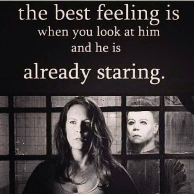 Facial expression - the best feeling is when you look at him and he is already staring.