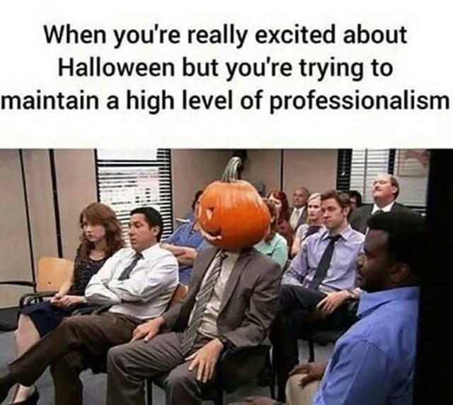 People - When you're really excited about Halloween but you're trying to maintain a high level of professionalism