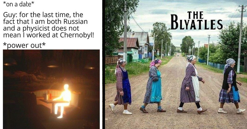 Funny memes about Eastern Europe and Slavic people