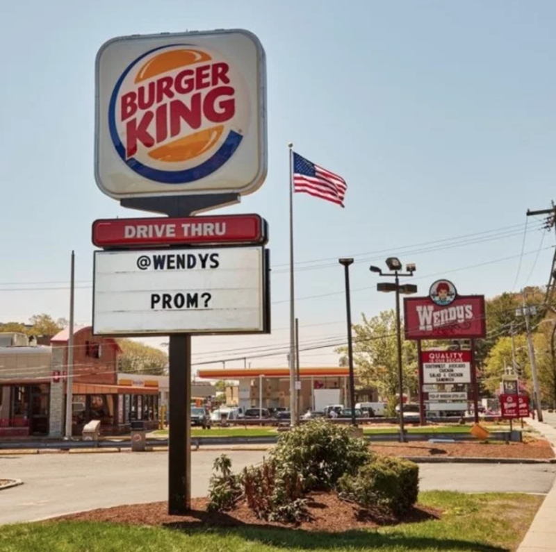Signage - BURGER KING DRIVE THRU @WENDYS PROM? WENDYS QUALITY