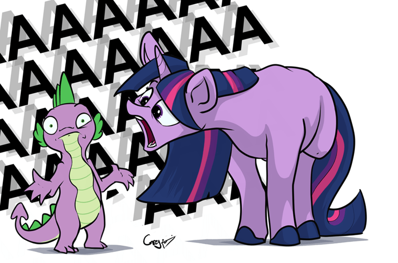 spike AAA twilight sparkle Rodney Dangerfield greyscale - 9221635840