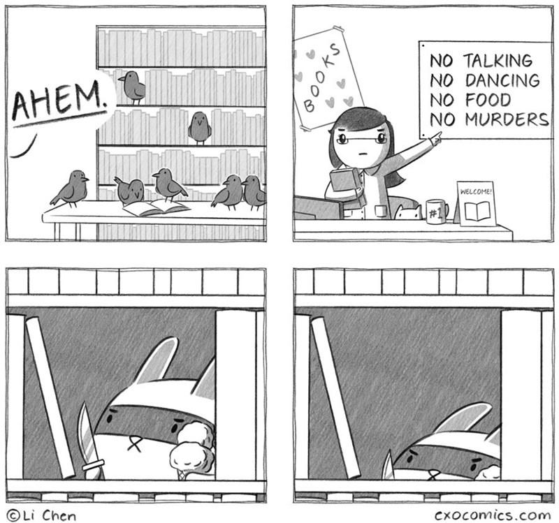 Cartoon - NO TALKING NO DANCING NO FOOD NO MURDERS АНЕМ. WELCOME! Li Chen Cxocomics.com