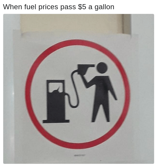 suicide gas pump sign