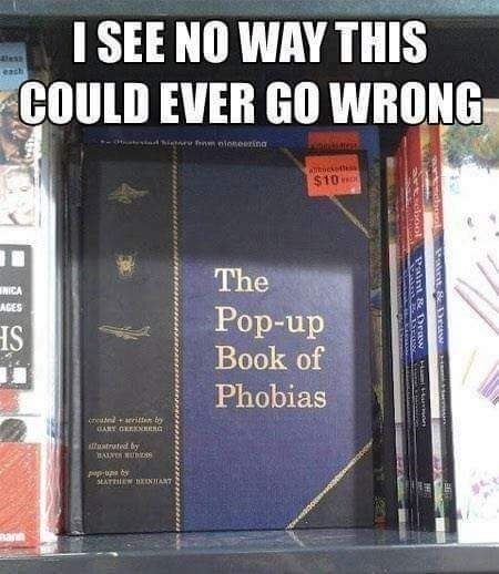 pun about pop up book of phobias being a bad idea