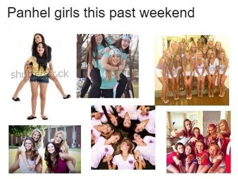 memes - Facial expression - Panhel girls this past weekend shu ck AM