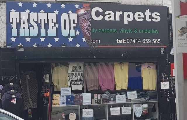funny sign - Building - HASTE OF Carpets ity carpets, vinyls & underlay tel: 07414 659 565 com HAIN 01 inssSSS BBRIGRERR CCEEE MA ICS banoe USTHO TEANIE 2 TO