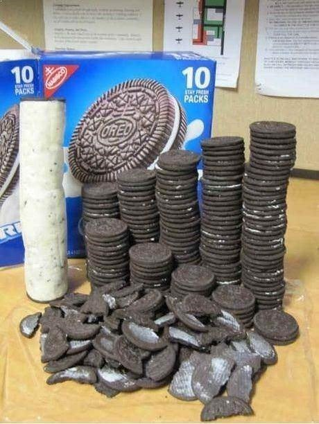 Cursed Image of the cream of oreos removed and stuck together to form one cookie