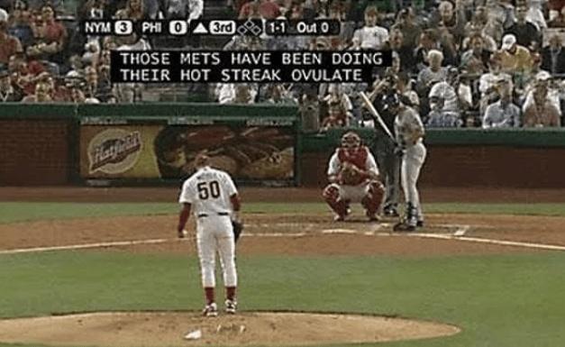 subtitle fail in Baseball game broadcast